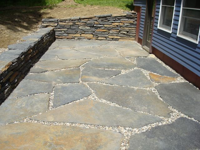 ... Natural Stone Patio Construction ...